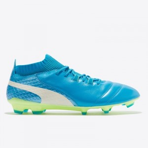 Puma One 17.1 Firm Ground Football Boots – Atomic Blue/White/Safety Ye All items