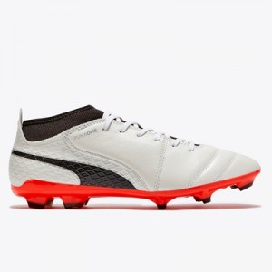 Puma One 17.2 Firm Ground Football Boots – White/Black/Fiery Coral All items