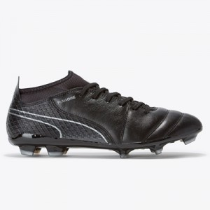Puma One 17.2 Firm Ground Football Boots – Black/Black/Silver All items