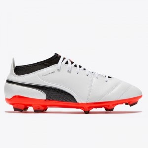 Puma One 17.3 Firm Ground Football Boots – White/Black/Fiery Coral All items