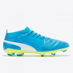 Puma One 17.3 Firm Ground Football Boots – Atomic Blue/White/Safety Ye All items