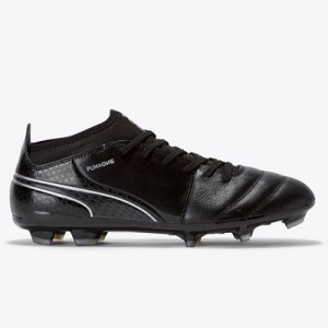 Puma One 17.3 Firm Ground Football Boots – Black/Black/Silver All items