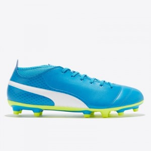 Puma One 17.4 Firm Ground Football Boots – Atomic Blue/White/Safety Ye All items