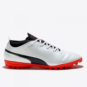 Puma One 17.4 Astroturf Trainers – White/Black/Fiery Coral – Kids All items