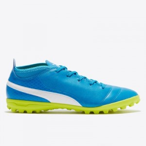 Puma One 17.4 Astroturf Trainers – Atomic Blue/White/Safety Yellow – K All items