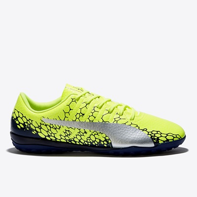Puma evoPOWER Vigor 4 Graphic Astroturf Trainers – Safety Yellow/Silve All items
