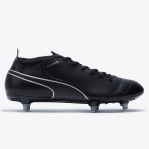 Puma One 17.4 Soft Ground Football Boots – Black/Black/Silver All items