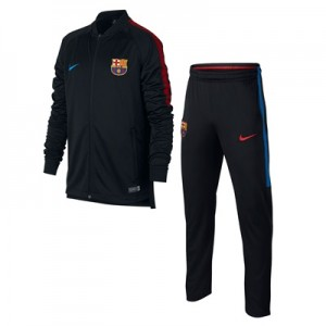 Barcelona Squad Knit Tracksuit – Black – Kids All items