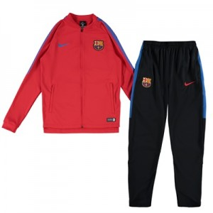 Barcelona Squad Knit Tracksuit – Red – Kids All items