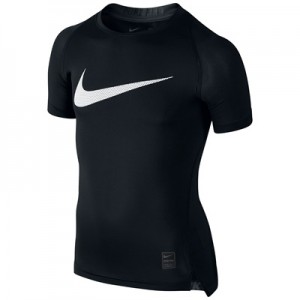 Nike Pro Combat Baselayer Top – Black/White – Kids All items
