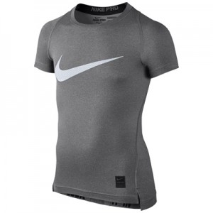 Nike Pro Combat Baselayer Top – Grey/White – Kids All items