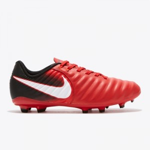Nike Tiempo Ligera IV Firm Ground Football Boots – Red – Kids All items