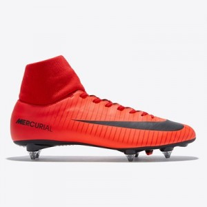 Nike Mercurial Victory VI Dynamic Fit Soft Ground Football Boots – Red All items