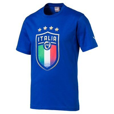 Italy Badge T-Shirt – Blue T-shirts