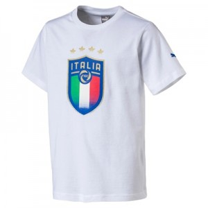 Italy Badge T-Shirt – White – Kids Clothing
