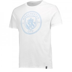 Manchester City Crest T-Shirt – White – Kids All items