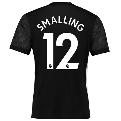 Manchester United Away Shirt 2017-18 with Smalling 12 printing All items