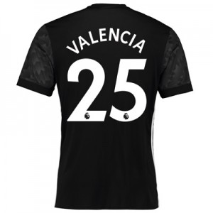 Manchester United Away Shirt 2017-18 with Valencia 25 printing All items