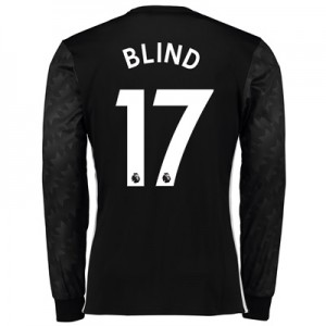 Manchester United Away Shirt 2017-18 – Long Sleeve with Blind 17 print All items