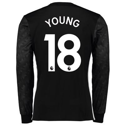 Manchester United Away Shirt 2017-18 – Long Sleeve with Young 18 print All items