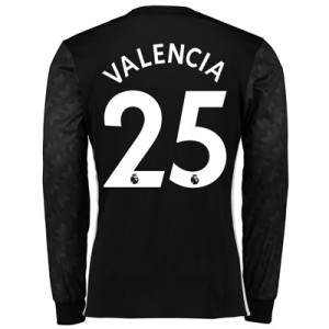Manchester United Away Shirt 2017-18 – Long Sleeve with Valencia 25 pr All items