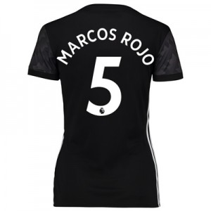 Manchester United Away Shirt 2017-18 – Womens with Marcos Rojo 5 print All items
