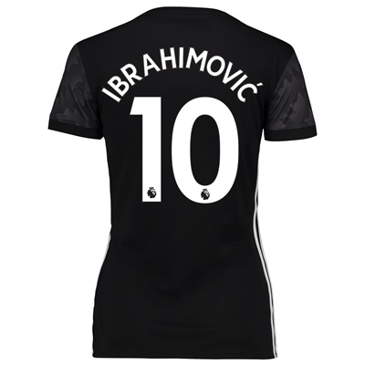 Manchester United Away Shirt 2017-18 – Womens with Ibrahimovic 10 prin All items