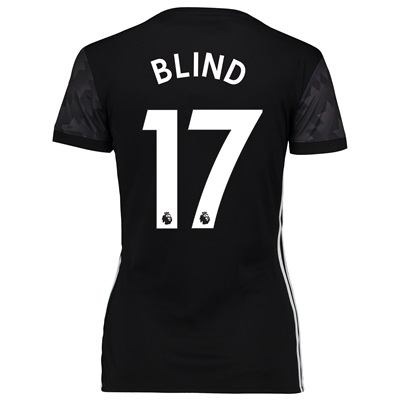 Manchester United Away Shirt 2017-18 – Womens with Blind 17 printing All items