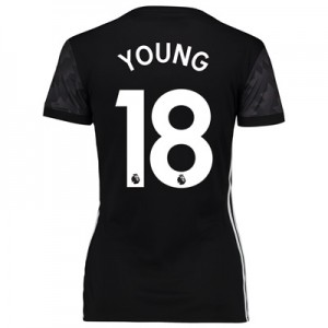Manchester United Away Shirt 2017-18 – Womens with Young 18 printing All items
