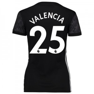 Manchester United Away Shirt 2017-18 – Womens with Valencia 25 printin All items