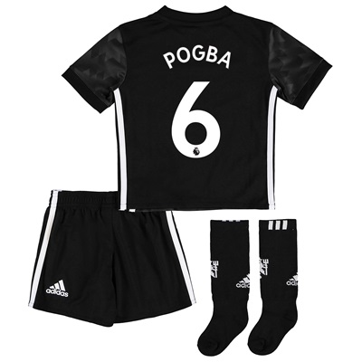 Manchester United Away Mini Kit 2017-18 with Pogba 6 printing All items