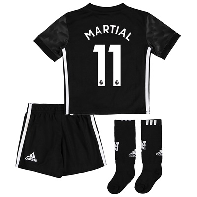 Manchester United Away Mini Kit 2017-18 with Martial 11 printing All items
