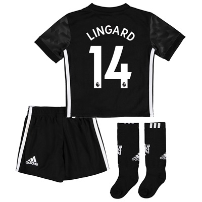 Manchester United Away Mini Kit 2017-18 with Lingard 14 printing All items