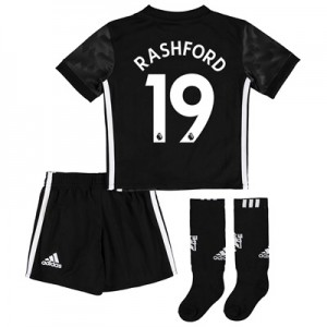 Manchester United Away Mini Kit 2017-18 with Rashford 19 printing All items