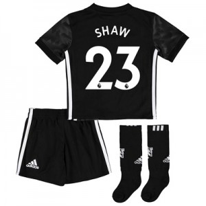 Manchester United Away Mini Kit 2017-18 with Shaw 23 printing All items