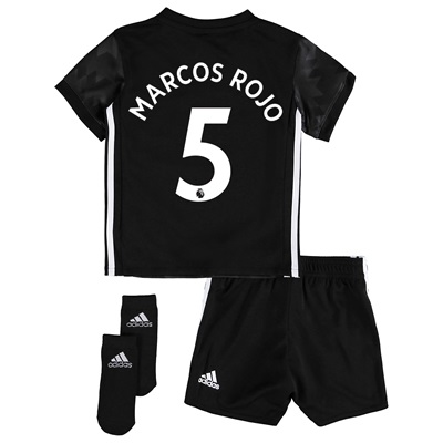 Manchester United Away Baby Kit 2017-18 with Marcos Rojo 5 printing All items