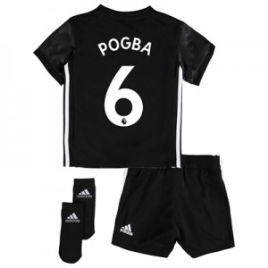 Manchester United Away Baby Kit 2017-18 with Pogba 6 printing All items