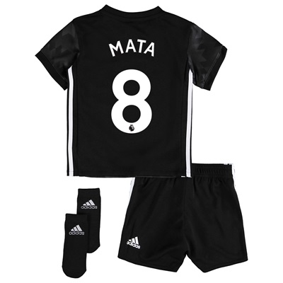 Manchester United Away Baby Kit 2017-18 with Mata 8 printing All items