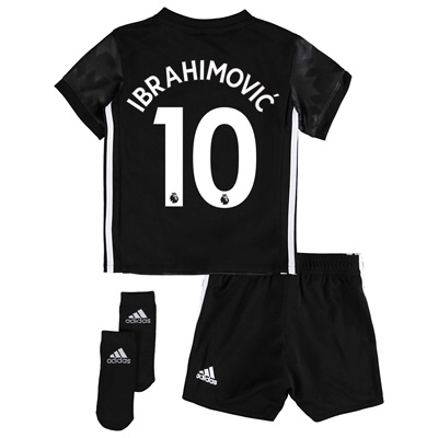 Manchester United Away Baby Kit 2017-18 with Ibrahimovic 10 printing All items