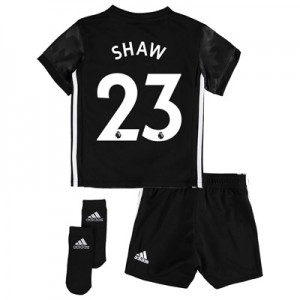 Manchester United Away Baby Kit 2017-18 with Shaw 23 printing All items