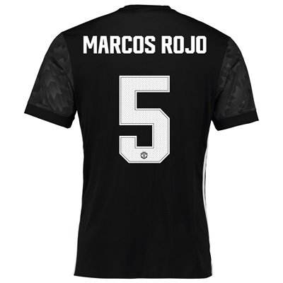 Manchester United Away Cup Shirt 2017-18 with Marcos Rojo 5 printing All items