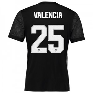 Manchester United Away Cup Shirt 2017-18 with Valencia 25 printing All items