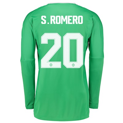 Manchester United Away Goalkeeper Cup Shirt 2017-18 with S.Romero 20 p All items