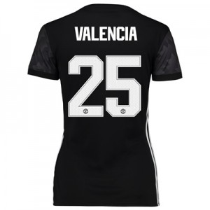 Manchester United Away Cup Shirt 2017-18 – Womens with Valencia 25 pri All items