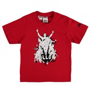 Manchester United Never Follow Graphic T-Shirt – Red – Kids All items