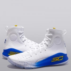 """Under Armour Curry 4 Basketball Shoe – White/Team Royal/Taxi – Mens"" All items"