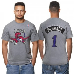 """Toronto Raptors Tracy McGrady Hardwood Classics Distressed Name & Numb"" All items"
