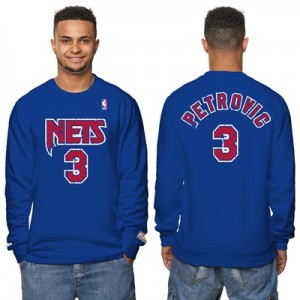 """New Jersey Nets Drazen Pettroviv Hardwood Classics Distressed Name & N"" All items"
