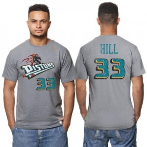"""""""Detroit Pistons Grant Hill Hardwood Classics Distressed Name & Number """" All items"""