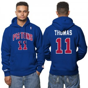 """Detroit Pistons Isiah Thomas Hardwood Classics Distressed Name & Numbe"" All items"